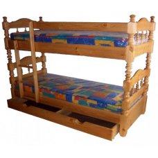 Двухъярусная кровать с ящиком для белья
