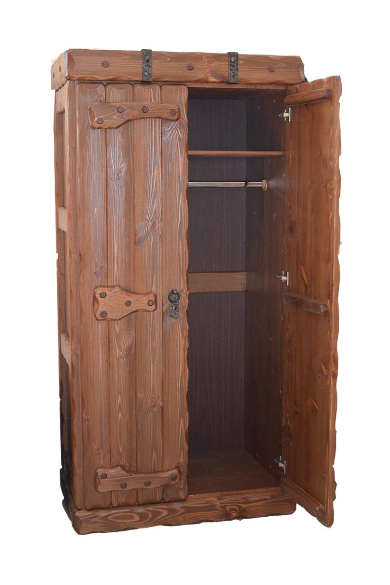 Двух-створчатый шкаф под старину с ковкой