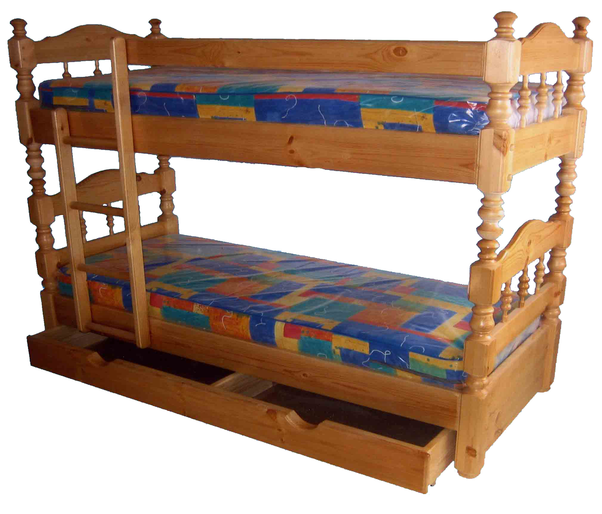 Детская двухъярусная кровать с ящиком