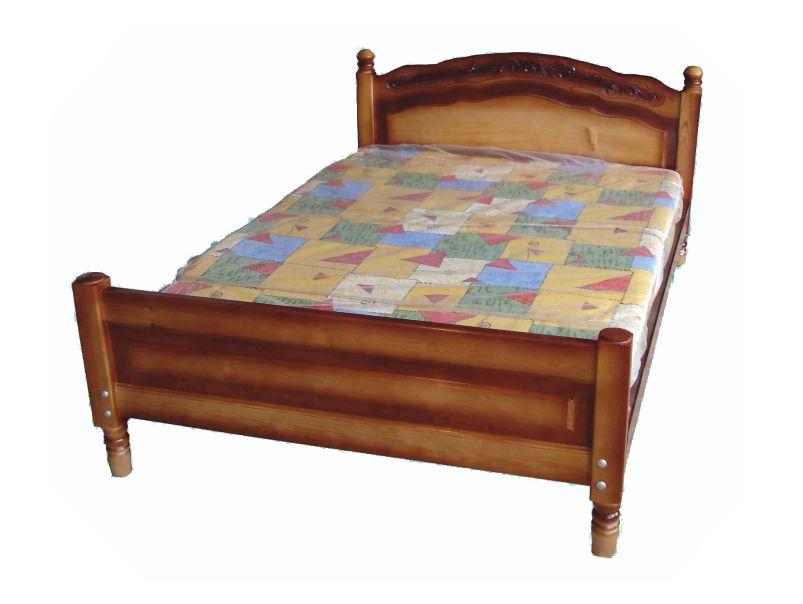 """Двухспальная кровать из массива """"Горка №3"""""""