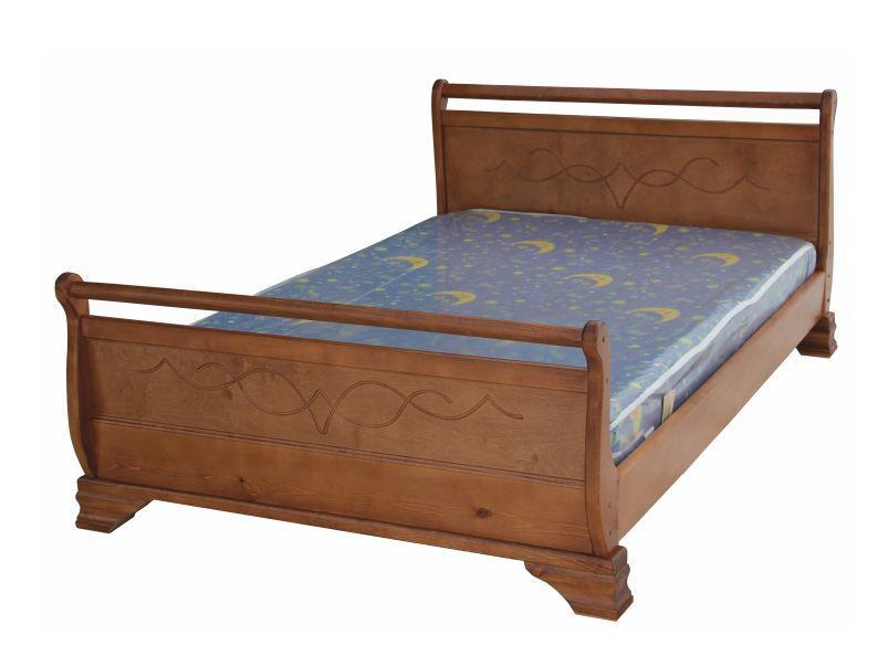 Кровать из массива сосны или берёзы на заказ