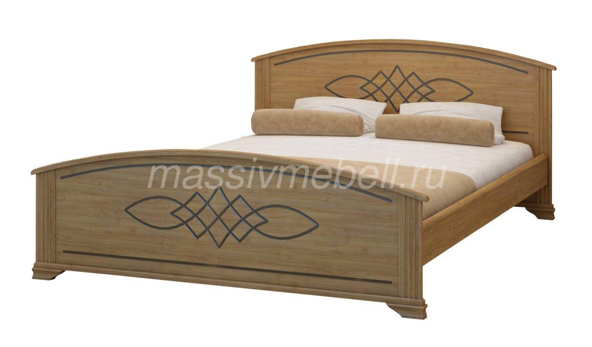 """Кровать двуспальная """"Гера"""" из сосны"""