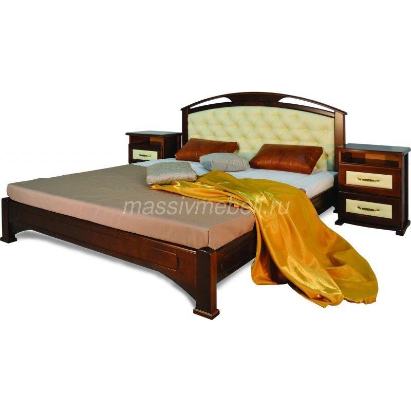 """Двуспальная кровать из массива дерева """"Омега"""""""