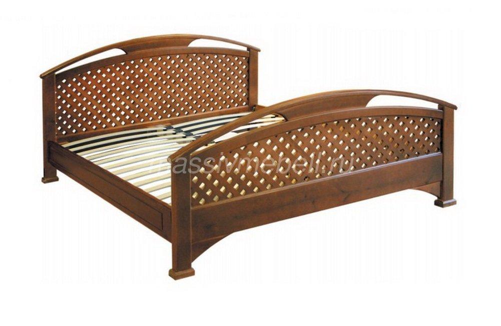 """Деревянная кровать из массива """"Омега-3"""""""