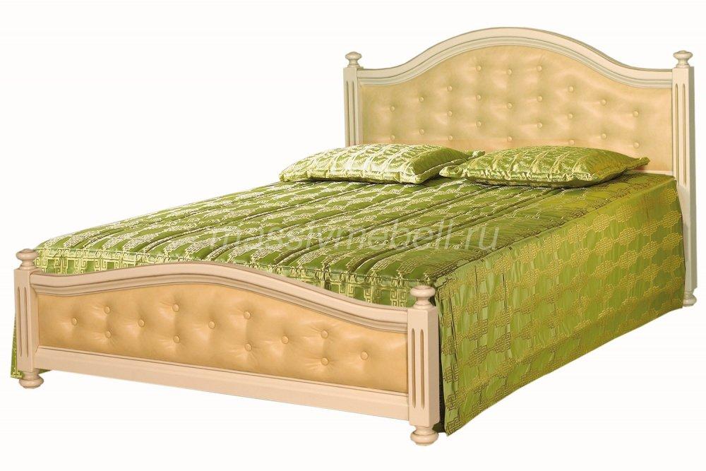 """Кровать из массива с мягким изголовьем """"Вилия"""""""