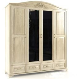 Четырёх-створчатый шкаф с зеркалом