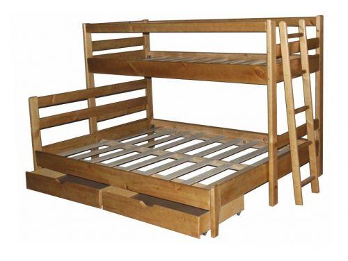 Двухъярусная трехместная кровать