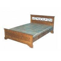 Кровати с ковкой в изголовье из массива дерева (сосна, берёза).