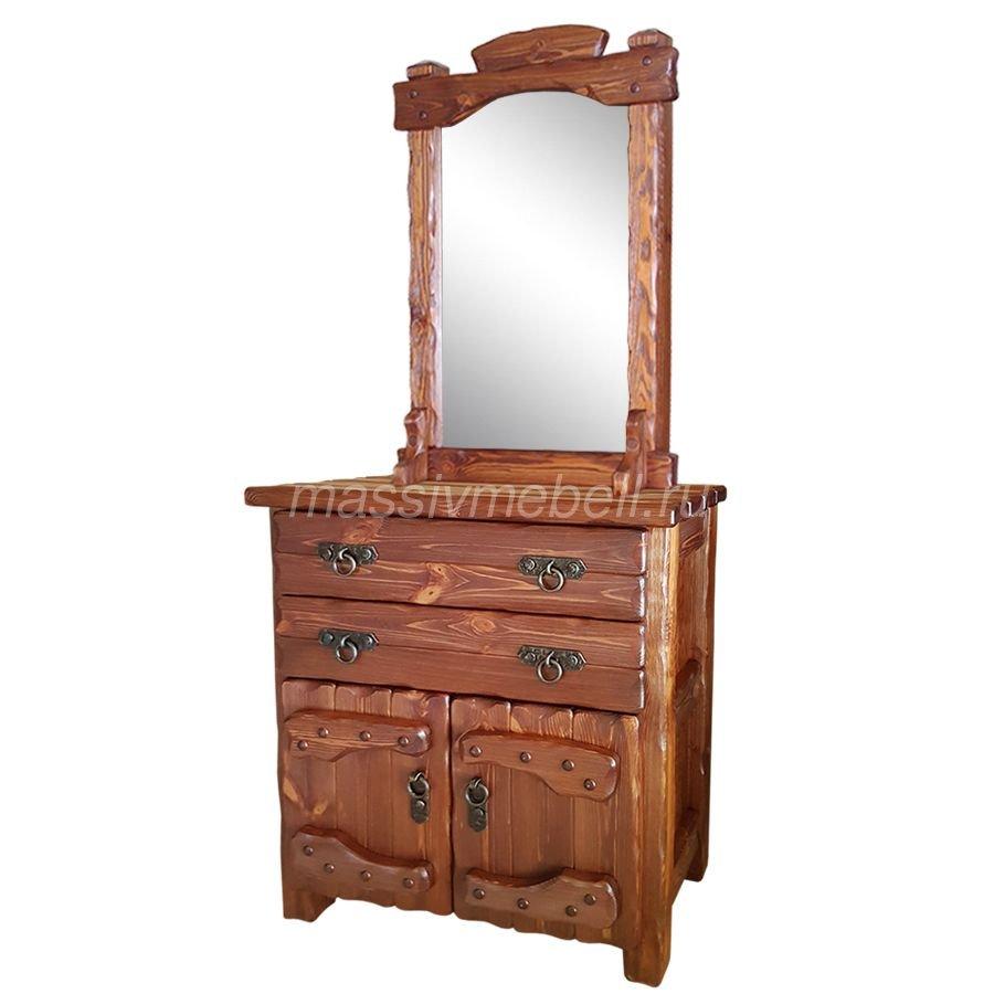 Комод с зеркалом под старину
