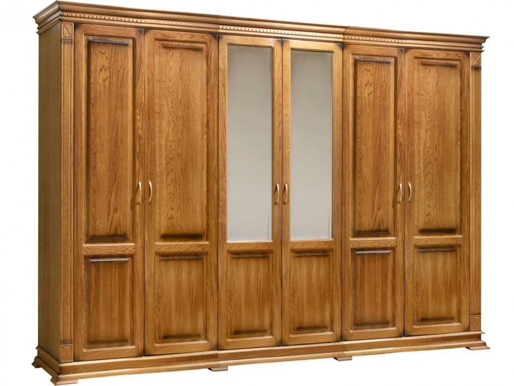 Бельевой 6-и створчатый шкаф Верди из массива