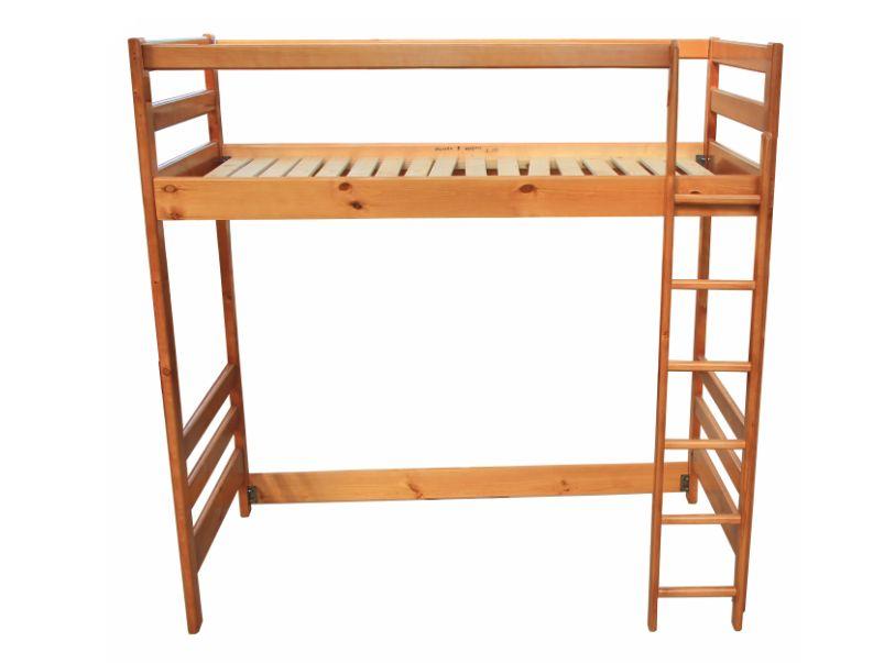 """Кровать """"Чердак"""" из массива дерева."""