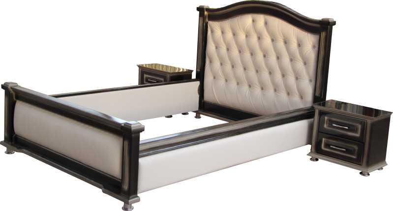 """Кровать из массива берёзы """"Дарья"""" с мягкими спинками."""