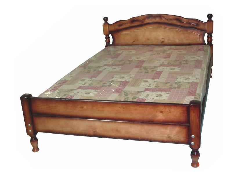 """Кровать из сосны """"Жанна"""" тахта с резьбой."""
