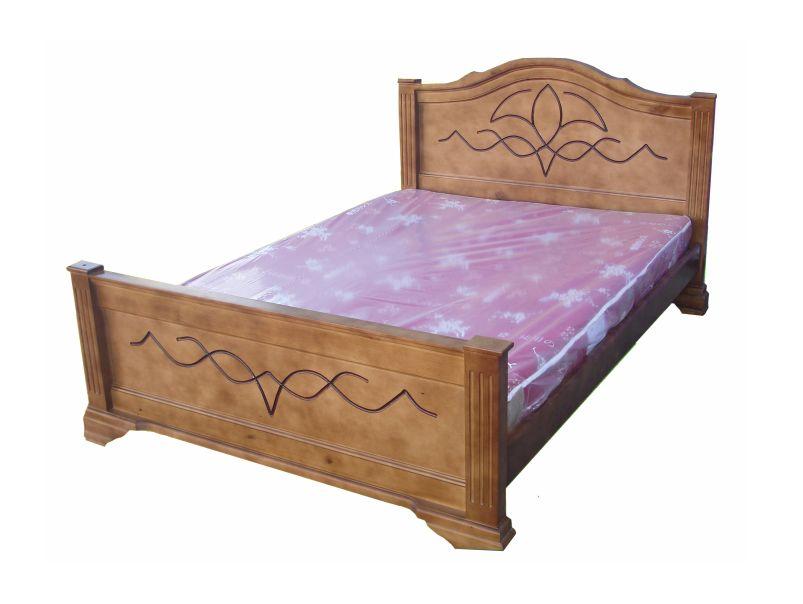 """Двуспальная кровать из натурального дерева """"Лилия"""""""