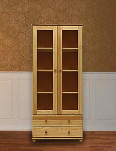 Книжный шкаф из массива Витязь