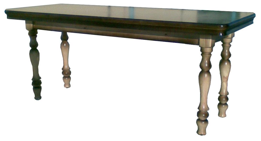 Большой стол для гостинной из дерева (сосна, берёза).
