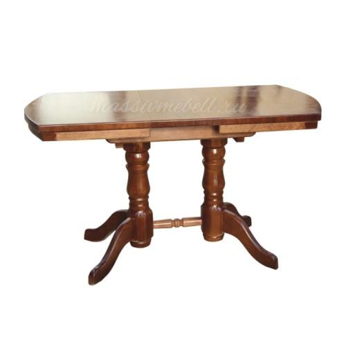 Стол кухонный на двух ножках из сосны.