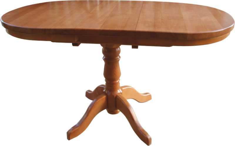 Стол кухонный на одной ножке из массива сосны.